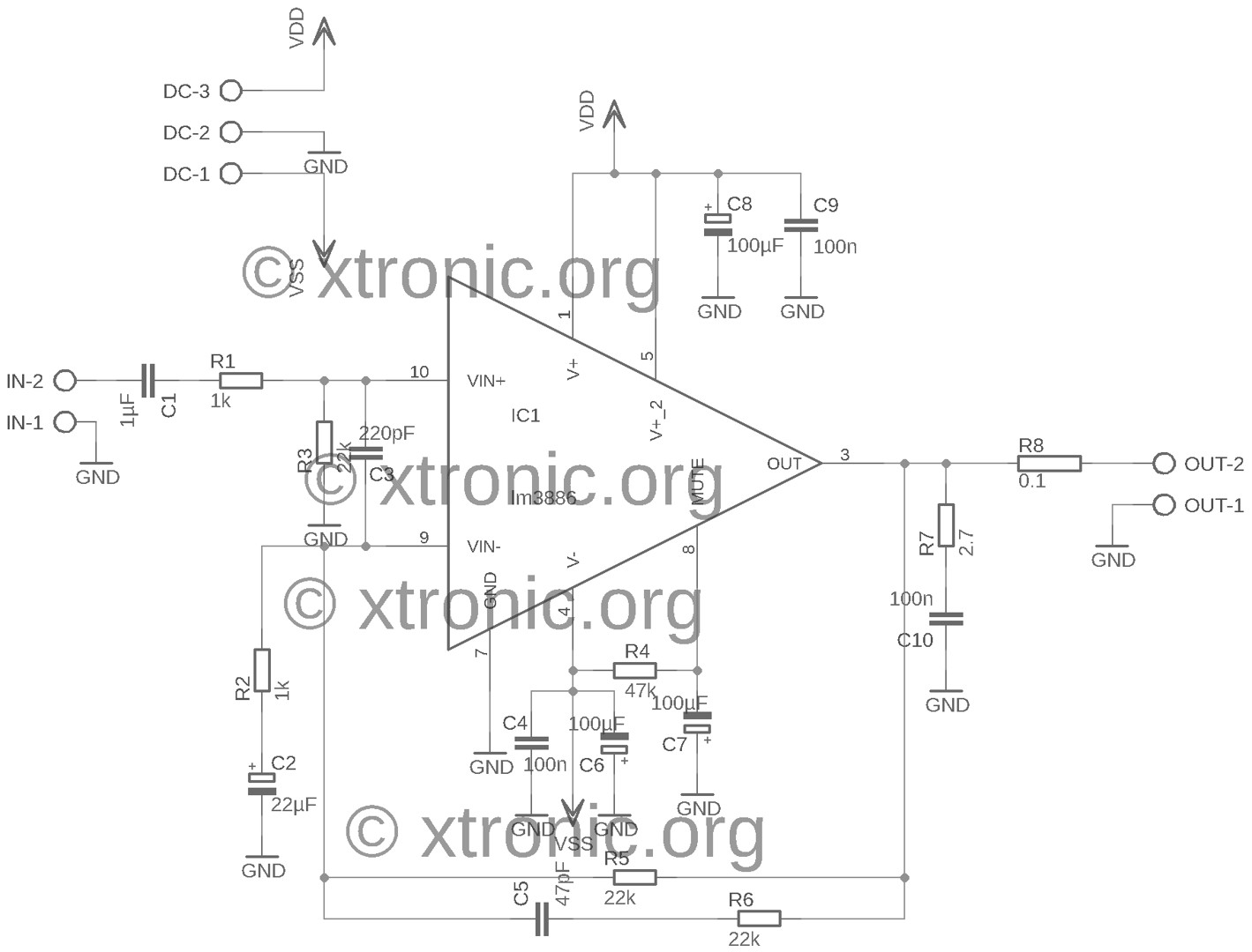 Lm Stereo Amplifier Circuit