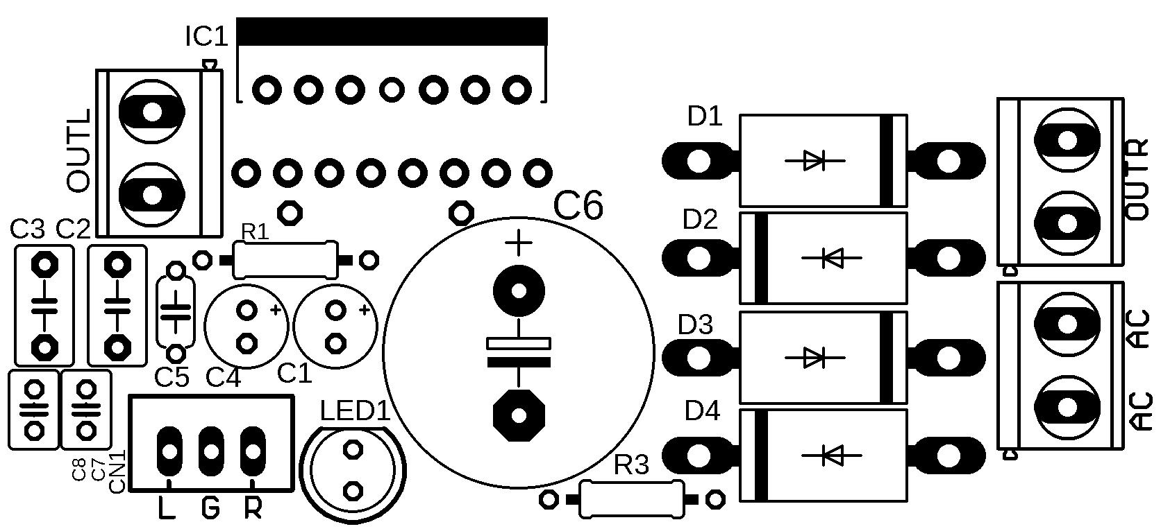 Circuit Stereo Power Amplifier Ic Tda 38w Xtronic
