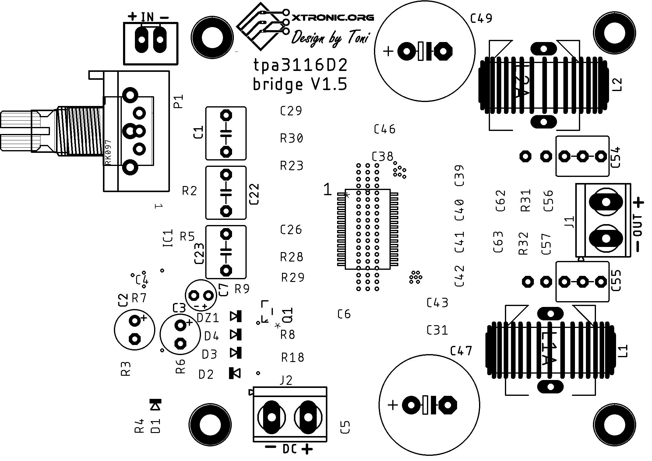 Circuit Power Audio Amplifier Ic Tpa D2 D Class