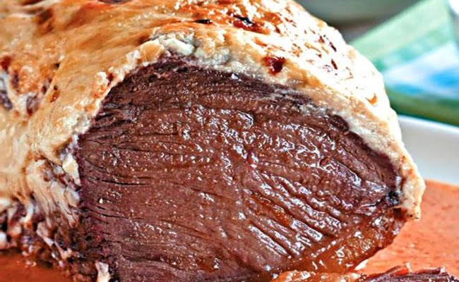 Receita de Alcatra assada com crosta de maionese
