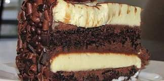 Receita de Bolo Mousse de Dois Chocolates