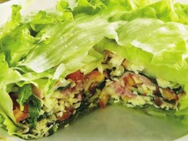 Bolo de Salada em Camadas
