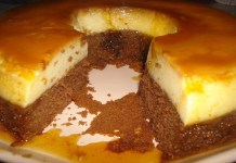 Receita de Bolo pudim de baunilha e chocolate