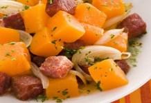 Receita de Carne seca com abóbora