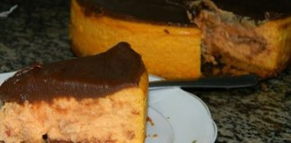 Receita de Cheesecake de Chocolate com Cenoura