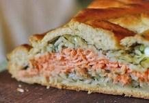 Receita de Coulibiac de salmão