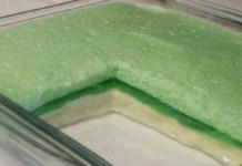 Receita de Creme de gelatina com leite condensado