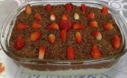 Receita de Delícia de chocolate e morango
