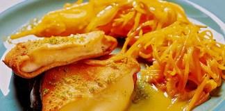 Filé de Frango com queijo à milanesa