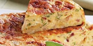 Receita de Fritada de Cebola Roxa e queijo provolone