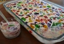 Receita de Gelatina Mosaico