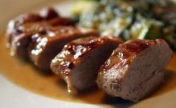 Receita de Lombinhos de Porco com molho de mel e mostarda