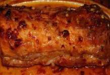Receita de Lombo de Porco com massa de Pimentão assado