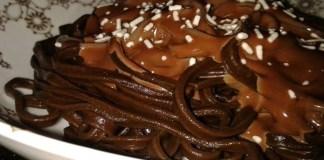Receita de Macarrão de Chocolate