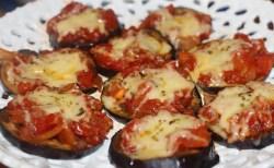 Receita de Mini Pizza de Berinjela