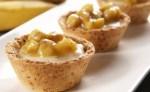 Receita de Mini tortas com creme de mel e banana