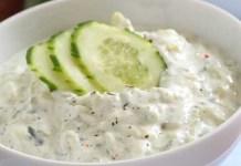 Receita de Molho de Iogurte e Pepino Tzatziki
