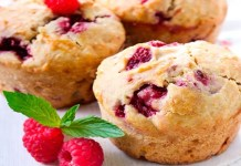 Muffins de framboesa