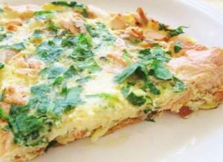 Receita de Omelete de Salmão