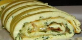 Receita de Omelete de rolo
