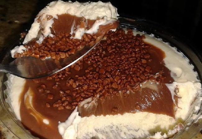 Receita de Pavê de Leite Ninho com Chocolate