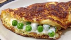 Receita de Omelete Recheada com Coalhada