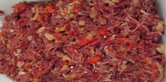Receita de Recheio de Carne Seca para Salgados