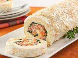 Receita de Rocambole de Pão de ló com Salsicha
