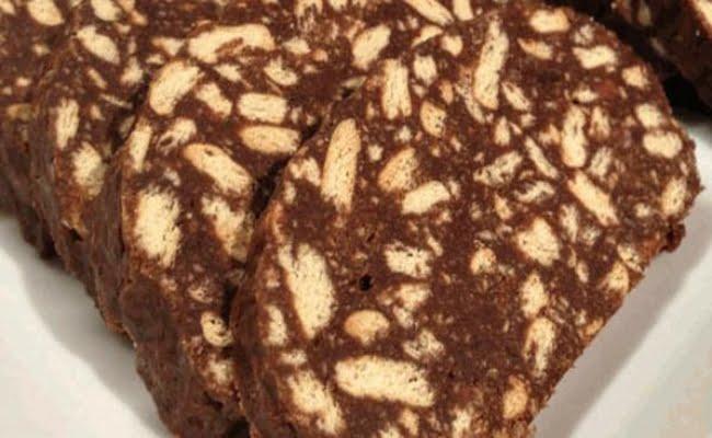 Receita de Salame de Chocolate com Amêndoas