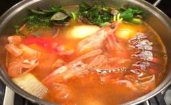 Receita de Sopa de Cabeça de Camarões