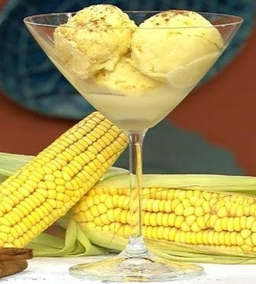 Receita de Massa de Sorvete de Milho Verde