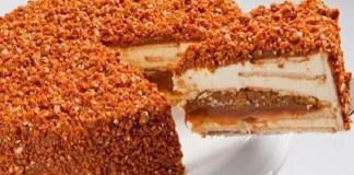 Receita de Torta Crocante de Doce de Leite