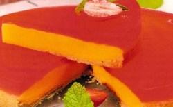 Receita de Torta Pudim de Baunilha e Morango