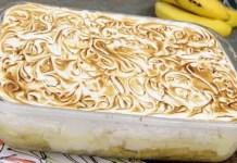 Receita de Torta de Banana com Creme
