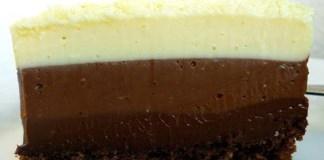 Receita de Torta de Chocolate Triplo
