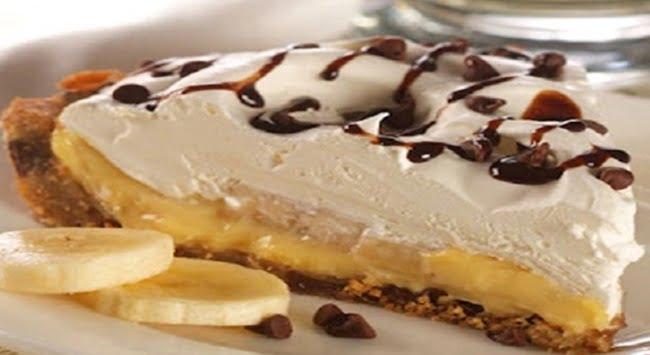 Receita de Torta de Creme com Bananas e Chocolate