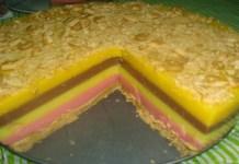 Receita de Torta de Pudins Boca Doce com Balacha Maria