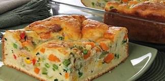 Receita de Torta de atum e legumes de liquidificador