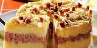 Receita de Torta de Batata Recheada