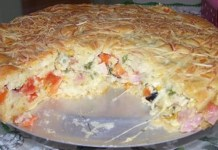 Receita de Torta de Pizza de Liquidificador