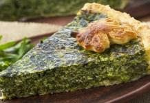 Receita de Torta de quinoa com escarola