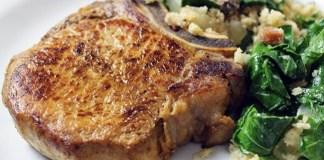 Receita de Bisteca de Porco Assada na Manteiga