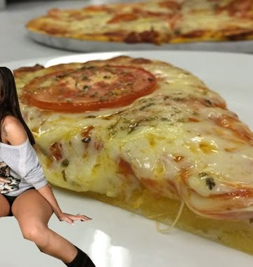Receita pizza da Anitta, Mais Você