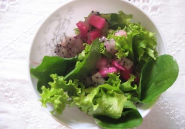 Receita de Salada de Pitaya