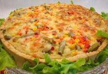 Torta de Frango com Legumes