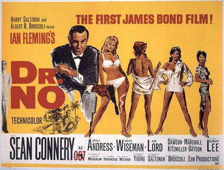 First James Bond movie, Dr. No, with Sean Connery