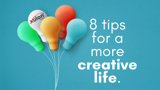 Creativity enhances personal and professional lives, and it's okay to be intentional with it! Here are 8 tips to help you live a more creative life...