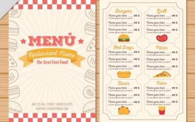 Những thủ thuật tạo nên một menu nhà hàng thành công