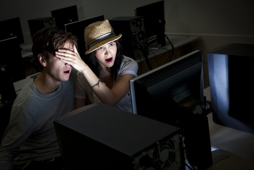 Couple on Computer Watching Porn