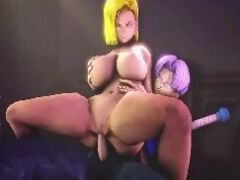 Hentai 3d Android 18 fode gostoso com Trunks